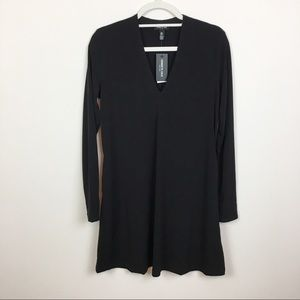 Kenneth Cole Black Long Sleeve Shift Dress